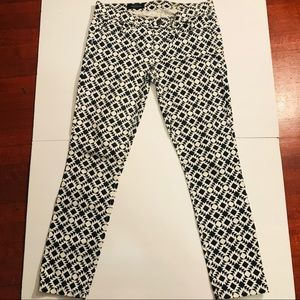 J. Crew Jeans - J.Crew Toothpick ankle Jean w/ geometric print